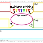 Rainbow Writing Graphic organizer