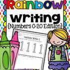 Rainbow Writing Numbers Handwriting Practice Pages