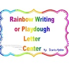Rainbow Writing and Play-Dough Center