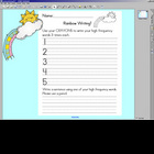 Rainbow Writing worksheet w/ SMARTBOARD display