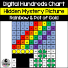 Rainbow and Pot of Gold Hundreds Chart Hidden Picture Acti