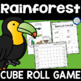 Rainforest Cube Roll Math Game