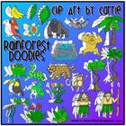 Rainforest Doodles Combo digital clip art