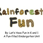 Rainforest Fun Kindergarten Unit