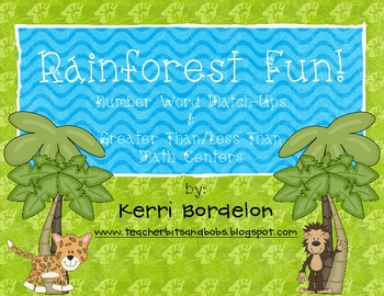 Rainforest Fun! Math Center FREEBIES