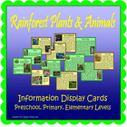 Rainforest Plants &amp; Animals Display Cards (Included~Rainfo