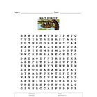 Rainforest Word Find and Answer Key