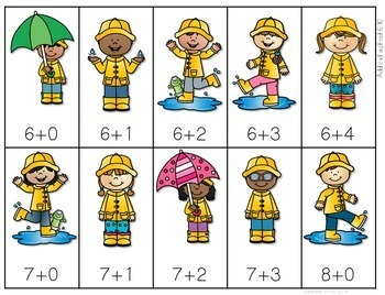 Raining Cats and Dogs! 0-9, Addition and  Subtraction Board Game