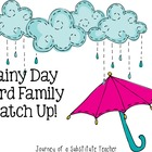Rainy Day Word Family Match