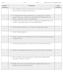 Raisin in the Sun Anticipation Guide