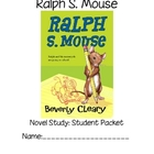 Ralph S Mouse Novel Study