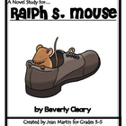 Ralph S. Mouse, by Beverly Cleary: A Novel Study