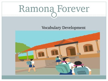 Ramona Forever Vocabulary Development