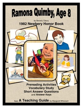 Ramona Quimby, Age 8  Prereading/Vocabulary/Short Answer Q