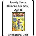 Ramona Quimby, Age 8 by Beverly Cleary Literature Unit