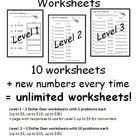 *Random Number* Money Worksheets - Dollar Over (Rounding U