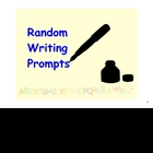 Random Writing Prompts for the SMARTboard