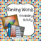 Ranking Words Vocabulary Activity, 4th-6th