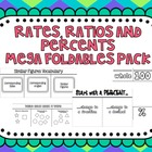 Rates, Ratios and Percents Mega Foldables Pack  {Common Co