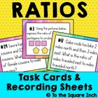 Ratio Language Task Cards and Recording Sheets Common Core