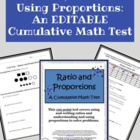 Ratio &amp; Proportion: A Cumulative Math Test