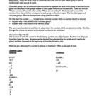 Rational & Irrational Numbers Activity