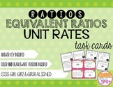 Ratios, Equivalent Ratios & Unit Rates Task Cards CCSS 6.R