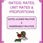 Ratios, Rates, Unit Rates &amp; Proportions Mini Bundle