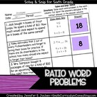 Ratios Solve and Snip- Common Core and TEKS