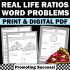 Ratios Worksheet Real World Math Fun Common Core Real life