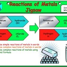 Reactions of metal jigsaw