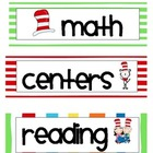 Read Across America Schedule and Routine Cards