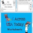 Read Across USA Today Reading Worksheets/Workbook 18 pages