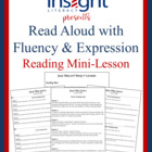 Read Aloud with Fluency and Expression Reading Mini Lesson