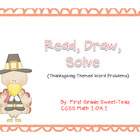 Read, Draw, Solve {Thanksgiving Themed Word Problems}