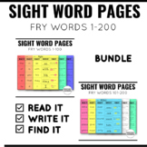 Read It Write It Find It Sight Words BUNDLE