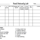 Read Naturally Response Sheet