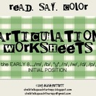 Read Say and Color Articulation Worksheets for Early 8 Eme