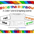 Read the Rainbow - A Color Word Graphing Freebie!