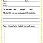 Reader Response Review Sheet