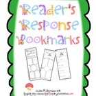 Reader&#039;s Response Bookmarks-Freebie