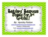 Readers Response Sheets for 3rd Grade