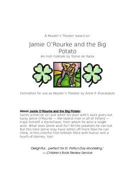 "Reader's Theater:  ""Jamie O'Rourke and the Big Potato"" by"