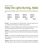 Readers Theater:  Keep the Lights Burning, Abbie