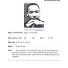 Milk or Martin Luther King Junior Day - Small Group Reader