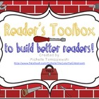 Reader's Toolbox {Decoding + Comprehension Reading Strategies}