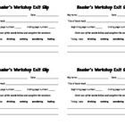 Reader's Workshop Exit Slips
