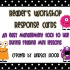 Reader&#039;s Workshop - Mini Lesson Response Cards