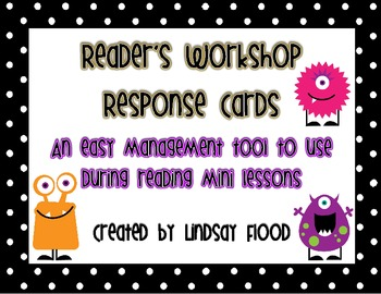 Reader's Workshop - Mini Lesson Response Cards