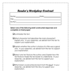 Reader's Workshop Student Contract